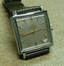 Orologio ZENITH WATCH-AUTOMATIC- cs.2 pz.acc/fond.incastro -fine '60- 30x30 mm.