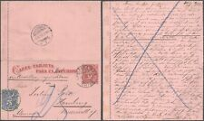 Chile 1895 - Uprated Stationery Valparaiso to Germany - Postage Due 10000/5