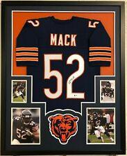FRAMED CHICAGO BEARS KHALIL MACK AUTOGRAPHED SIGNED JERSEY BECKETT COA