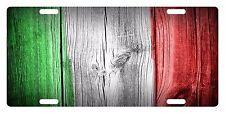 ITALY Custom License Plate ITALIAN ITALIA Emblem WOOD Version