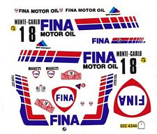 #18 Monte Carlo BMW M3 1989 1/24th - 1/25th Scale Decals