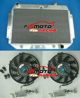 3 row Aluminum Radiator & FAN For Holden Kingswood HQ HJ HX HZ V8 Chev engine AT