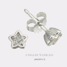 Authentic Pandora Silver Starshine Clear CZ Stud Earrings 290597CZ