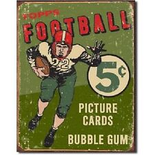 Topps 1956 Football 5 cents Bubble Gum NFL Weathered Metal Tin Sign Wall Decor