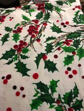 Vintage Holly Fabric - Tablecloth
