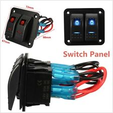 12V/24V Rocker LED Light Switch Panel IP65 Waterproof Car Caravan Marine Boat