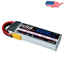 HRB 3S 6000mAh Lipo Battery 11.1V 50C 100C XT90 for RC Drone Quadcopter Car Boat