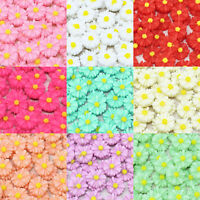 45x Daisy 13mm Shabby Chic Daisy Flatbacks Craft Embellishments - 10 Colours