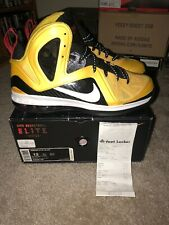 new arrivals 38123 b52ed Nike Lebron 9 IX PS Elite Taxi Yellow 516958 700 Red Black 3M Bruce Lee Sz