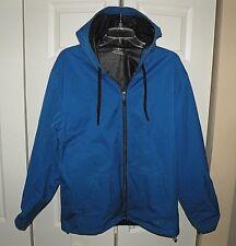 Men's NordicTrack Athletic/Running Blue Hooded Jacket Size M