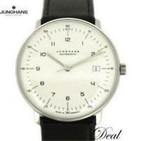 Junghans Maxville 027/4700.00 Men's SS Leather AT Silver dial from Japan [e0819]