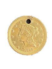 1842 C $2.50 Gold Coin American 2 1/2 Dollar Scarce Date