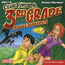 ClueFinders 3rd Grade  Math Science Reading Problem Solving   New 2 CD set