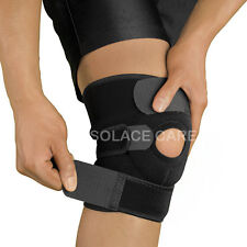 Solace Care ADJUSTABLE COMPRESSION Neoprene KNEE Brace – Sports Knee Support