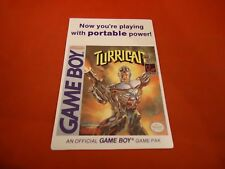 Turrican Nintendo Game Boy VIDPRO Werbe Display Karte Nur