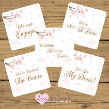 WEDDING Milestone / Journey Cards x 20 - Love Birds in Tree - Engagement Gift