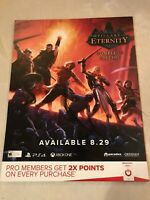 "Pillars Of Eternity Exclusive Gamestop Promo Poster 24x28"" PS4 Xbox Game Art"