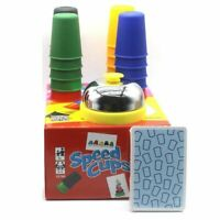 Portable Speed Cups Playing Cards Game Family Child Board Games Toys Multi-Color