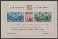 San Marino Sc 239 MNH. 1945 Government Palace Reconstruction, imperf Souv Sheet