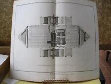 Vintage Print,PADDLE WHEEL ON BOAT,Plate32,Diderot Encyc.1784