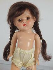 "BRUNETTE DK MOHAIR DOLL WIG SIZE 5/6"" FITS VINTAGE GINNY, MUFFIE, GINGER,"
