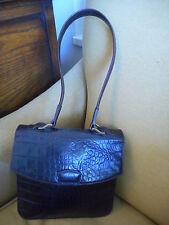 Mulberry Vintage Genuine Leather Brown Handbag Shoulder Bag + Serial No