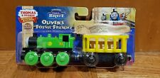 Thomas & Friends Wooden Railway New OLIVER's FOSSIL FREIGHT Train Engine Car