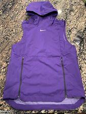 Nike Alpha Fly Rush 908420-545 Purple Hoodie Vest Sleeveless Jacket Mens Small S