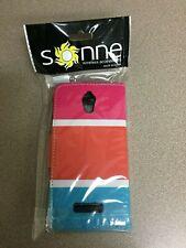 NEW Genuine ZTE Obsidian Z820 Case, Heavy Duty Wallet Case Pink/Orange/Blue