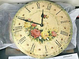 Howard Miller Savannah Botanical Society VI Wall Clock 620-401  Antique & Round