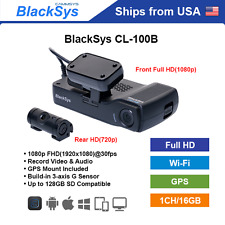BlackSys 2 Channel CH-100B Full HD WiFi GPS 16GB + Free DC Hardware Cable
