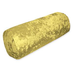 Mv04g Light Gold Diamond Crush Shimmer Velvet Bolster Cover Neck Roll Yoga Case