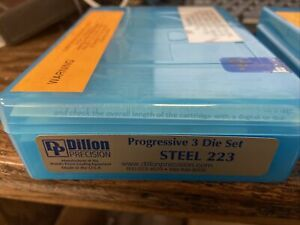 NIB SEALED DILLON STEEL 223 PROGRESSIVE 3 DIE SET 10839