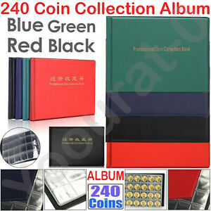 240 Coin Album Penny Money Storage Book Case Folder Collection Collecting Holder