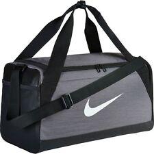 6a4a790c9229 Nike Brasilia 6 XS Small Medium Large Duffel Gym Bag Navy Black Grey Gray  Duffle