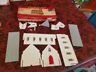 Vintage Plasticville Church Kit CC-9 Complete w/ Box O S Scale