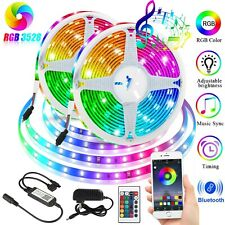 Music LED Strip Lights 16 FT Bluetooth APP Remote 5050 RGB Backlight Waterproof