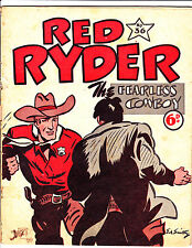 """Red Ryder No 36 1950's  Australian-""""Fight Cover!  """""""
