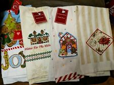 4 NEW Christmas Holiday Kitchen Bathroom Hand Towels