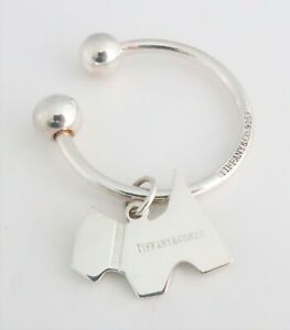 Vintage Tiffany & Co Sterling silver horseshoe key ring and a Scottie pendant