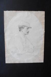 FRANCO-ARGENTINE SCHOOL 1903 - PORTRAIT OF A SOLDIER SIGN. ATRINHAC - PENCIL