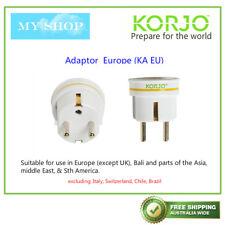 KORJO Travel Plug Adaptor from AUSTRALIA/NEW ZEALAND to Europe(except UK), Bali