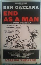 "Ben Gazzara Rare Vintage Broadway Window Card "" End as a Man""  His first role"