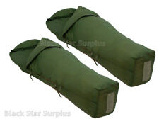 "Lot of 2 Military MSS OD Green ""Patrol"" Sleeping Bags   30-50°  -Excellent"