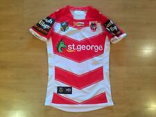 ST GEORGE DRAGONS 2018 MATCH WORN #1 RUGBY LEAGUE SHIRT JERSEY SMALL