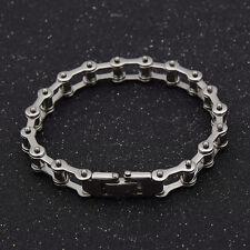 Mens Motor Bike Chain Motorcycle Chain Bracelet Bangle Stainless Steel Jewelry