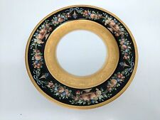 Gorgeous Antique BLACK KNIGHT Plate Black with GOLD ENCRUSTED- Free Shipping