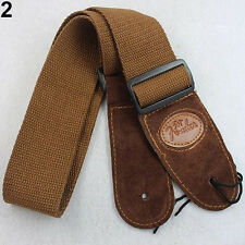 Brown Widening Acoustic Electric Guitar Bass Adjustable Belt Strap M3