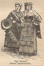 A0423 Tipo veneto (Mandriano dei Sette Comuni) - Stampa Antica 1907 - Xilografia