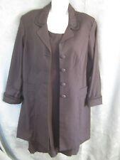 Sag Harbor Dress & Long Blazer Set Size 14 NEW LBD NWT Beaded Evening